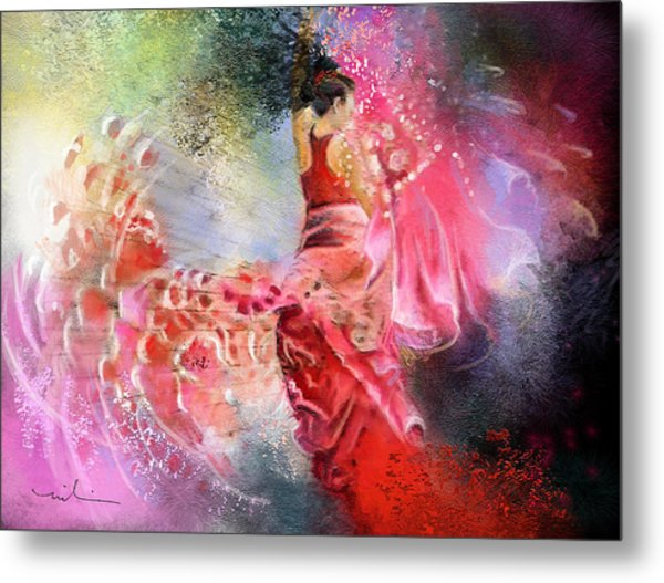 Flamencoscape 13 Metal Print