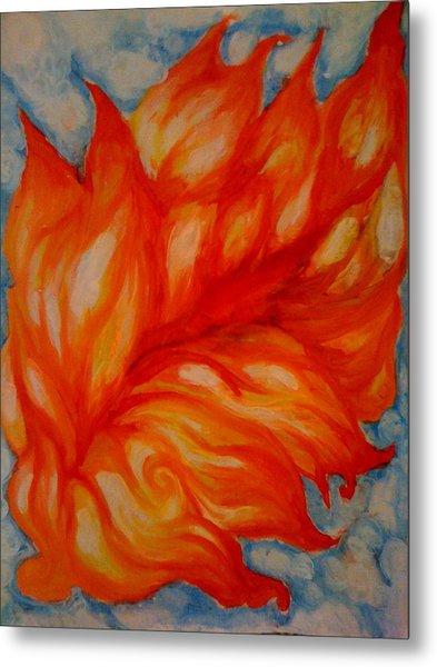 Flames Metal Print by Lydia Erickson