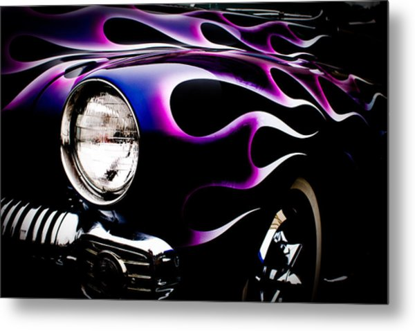 Flaming Classic Metal Print