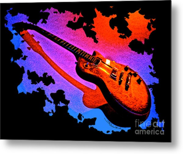 Flaming Rock Metal Print