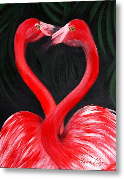 Love  Is... Flamingo Love. Inspirations Collection Metal Print