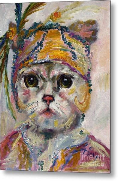 Flapper Kitten  Metal Print