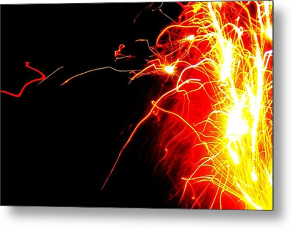 Flashes Of Light Metal Print by Jose Lopez