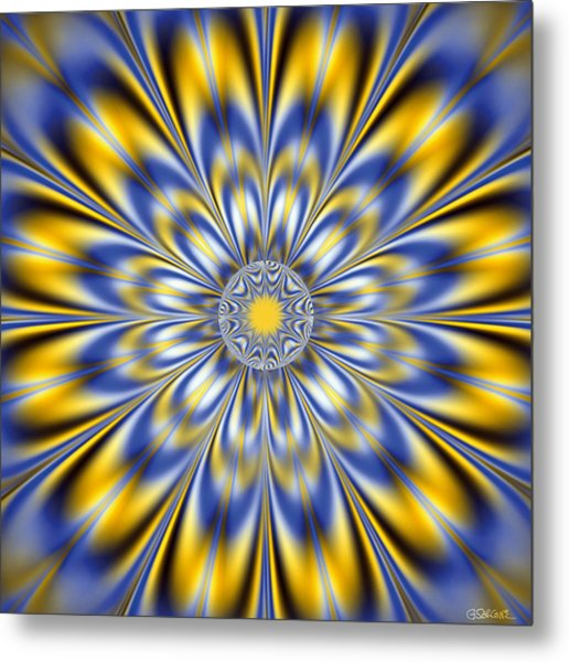 Flashing Star Metal Print