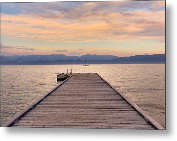 Flathead Lake Sunset Metal Print