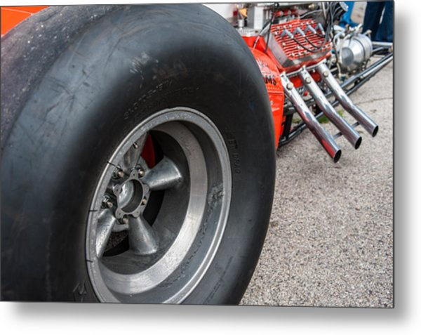 Flathead Powered Front Engine Dragster Metal Print
