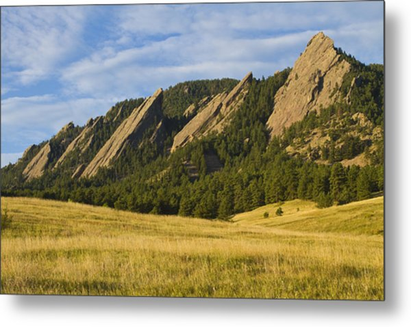 Flatiron Morning Light Boulder Colorado Metal Print