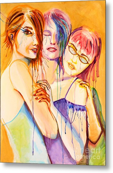 Metal Print featuring the painting Flawless by Angelique Bowman