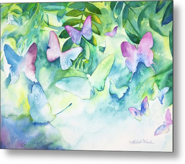 Flight Of The Butterflies Metal Print