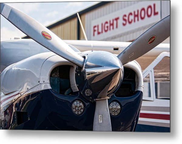 Flight School Metal Print