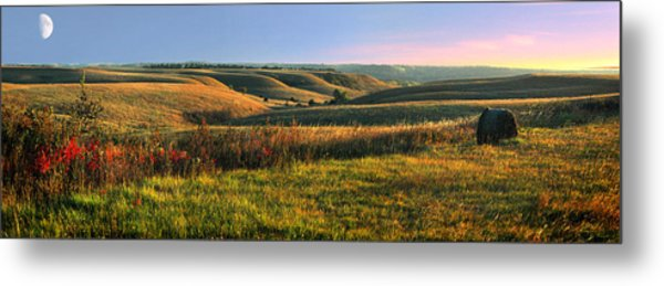 Flint Hills Shadow Dance Metal Print