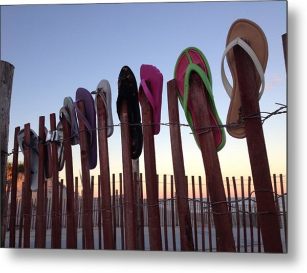Flip Flop Lost And Found Metal Print