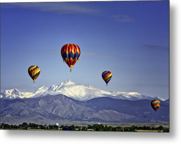 Floating Above Longs Peak Metal Print