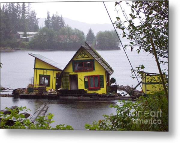 Floating Fish Barge Metal Print by Frances  Dillon