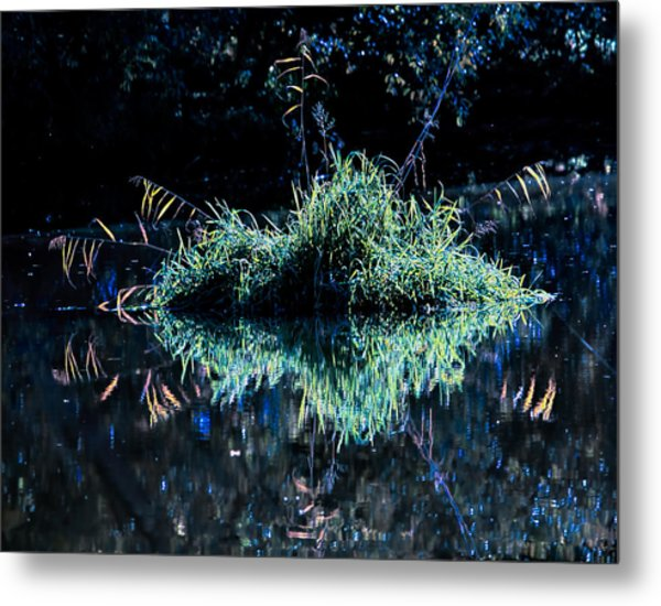 Floating Island Metal Print