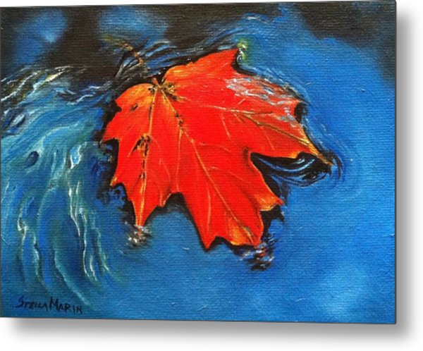 Floating Maple Reference Metal Print