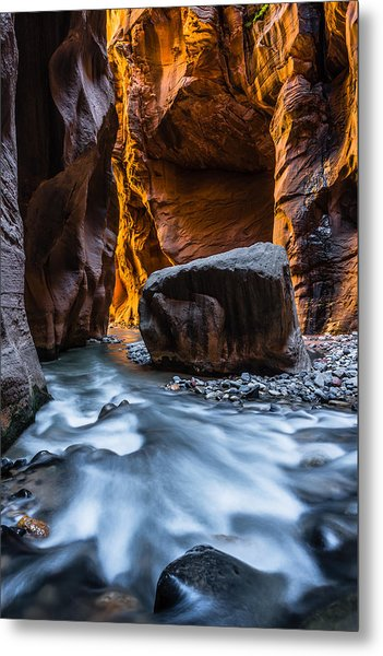 Floating Rock Metal Print