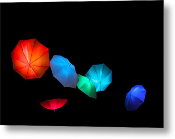 Floating Umbrellas  Metal Print by James Hammen