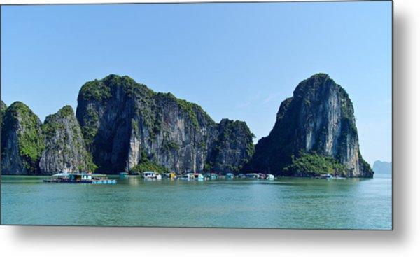 Floating Village Ha Long Bay Metal Print