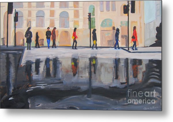 Flood In The City Metal Print