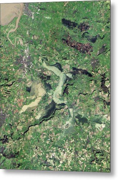 Flooded Somerset Levels Metal Print