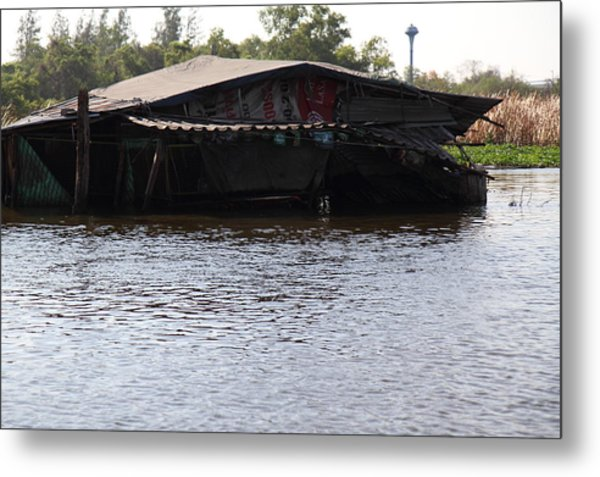 Flooding Of Stores And Shops In Bangkok Thailand - 01137 Metal Print by DC Photographer