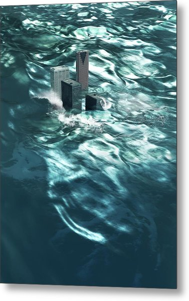 Flooding Metal Print
