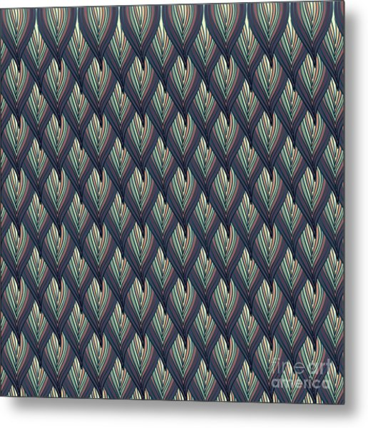 Floral Abstract Background Metal Print