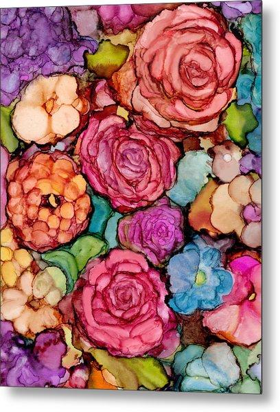 Floral Blanket Metal Print