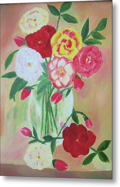 Floral Bouquet Metal Print by Edna Fenske