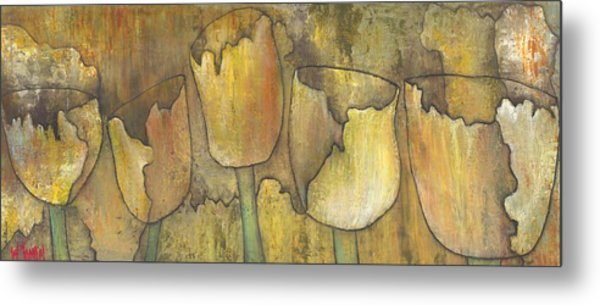 'floral Fruition' Metal Print