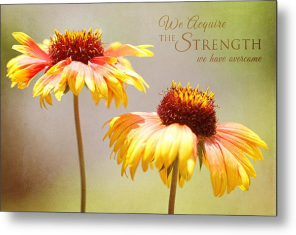 Floral Sunshine With Message Metal Print