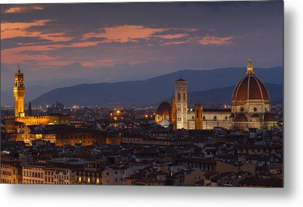 Florence By Night Metal Print
