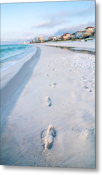 Metal Print featuring the photograph Florida Beach Scene by Alex Grichenko