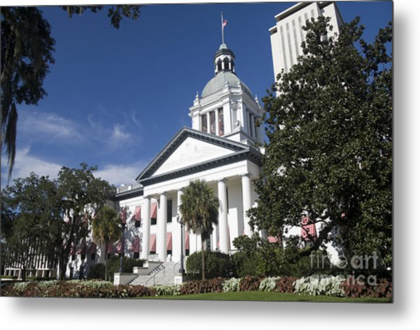 Florida Capital Building Metal Print by Ules Barnwell