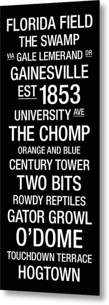Florida College Town Wall Art Metal Print