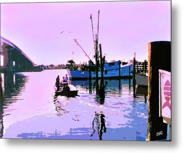 Florida Fishing Dock Metal Print