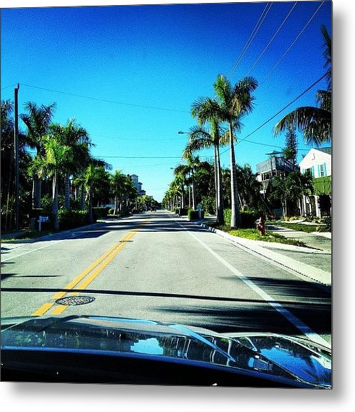 Florida Drive Metal Print