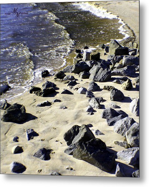 Florida Town Beach Metal Print