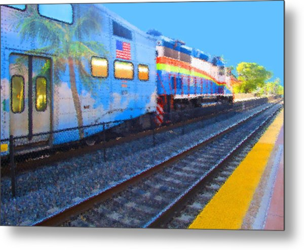 Florida Train Metal Print