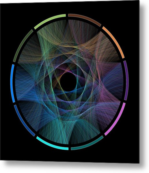 Flow Of Life Flow Of Pi Metal Print by Cristian Ilies Vasile
