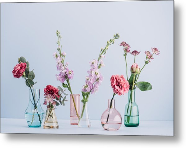 Flower Arrangement In Pastel Metal Print by Knape