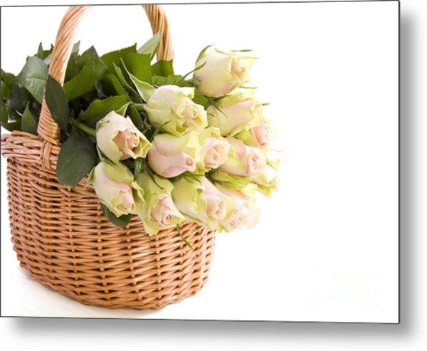 Flower Baskets Metal Print by Boon Mee
