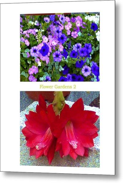 Flower Gardens B Metal Print