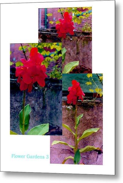 Flower Gardens C Metal Print