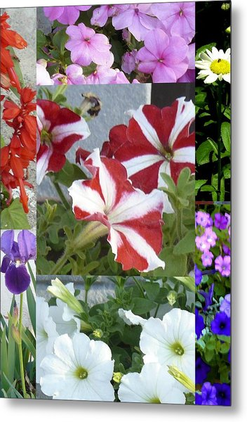 Flower Gardens Montage Metal Print