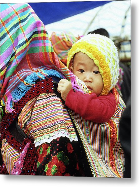 Flower Hmong Baby 04 Metal Print