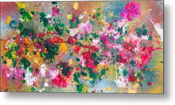Flower Kaleidoscop Metal Print