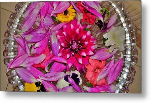 Flower Offerings - Jabalpur India Metal Print