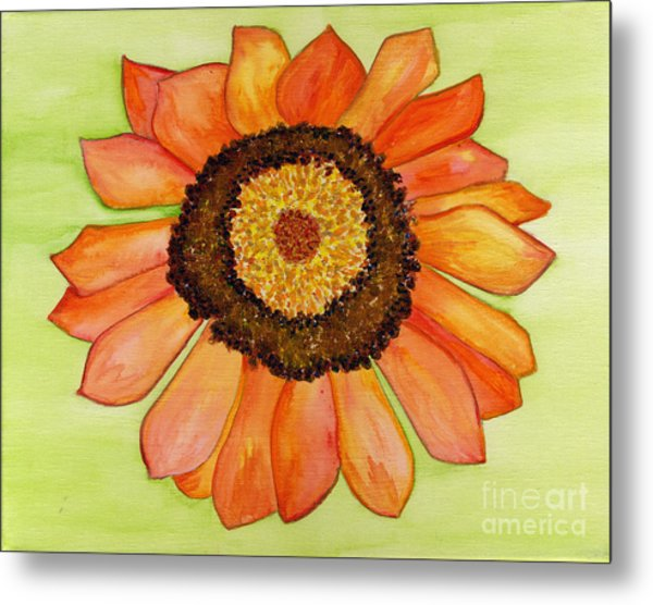 Flower Orange Metal Print